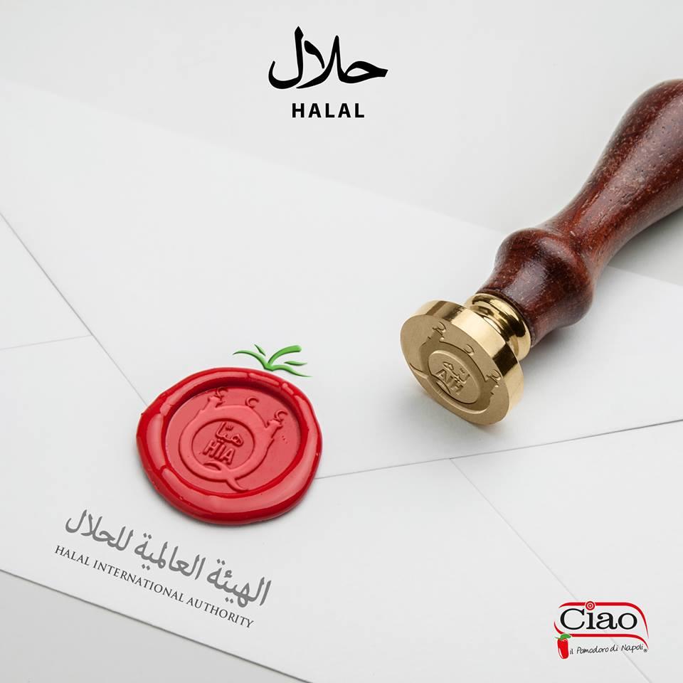 Ciao il pomodoro di Napoli - Halal Certificate