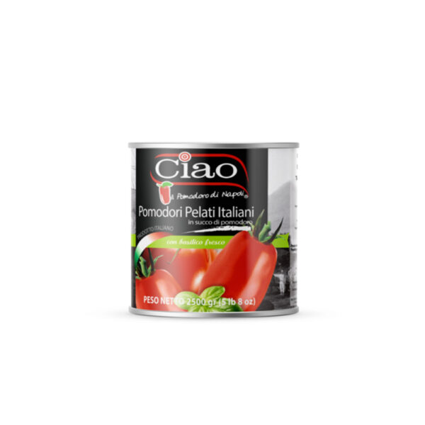 Ciao Pomodori Pelati con basilico 2500g